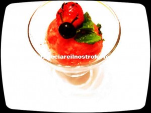 sorbetto alle fragole